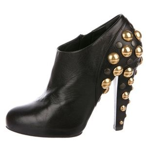 GUCCI Embellished Leather Boots